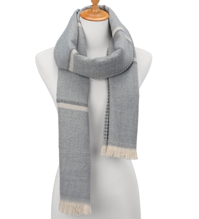 Grey Glen Plaid Scarf Wrap