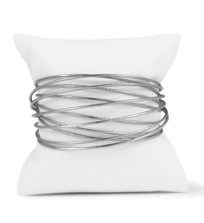 Gunmetal Etched Wire Cuff Bracelet