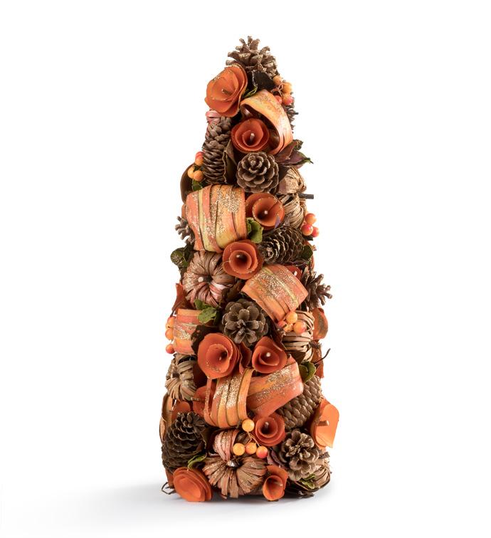 Pumpkin Spice Cone Tree