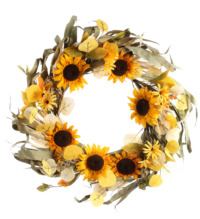 Dried Sunflower Wreath