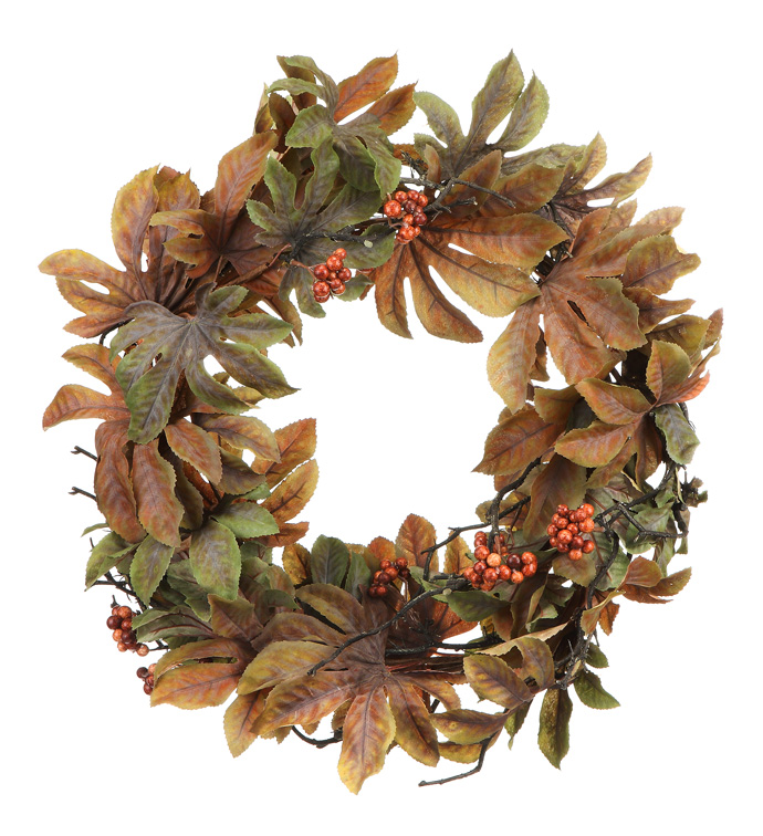 Autumn Aralia Leaf Wreath