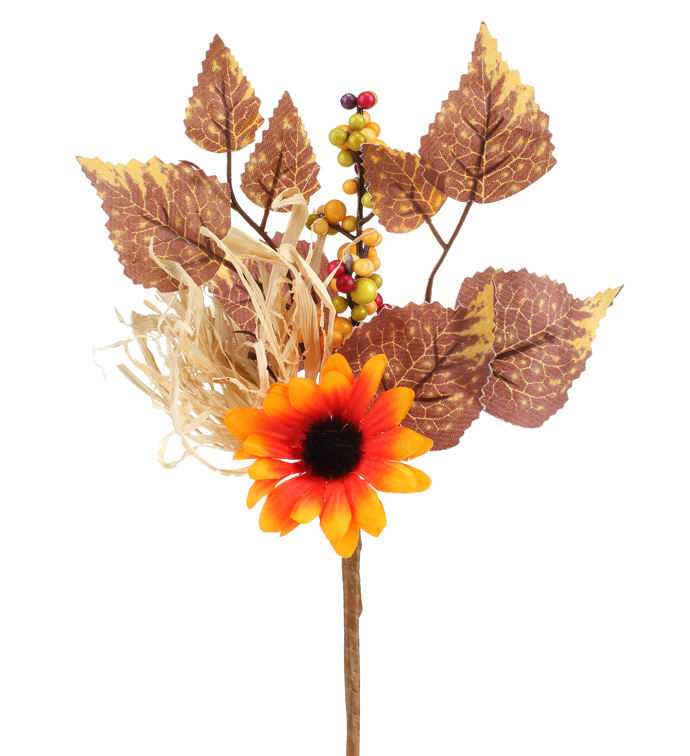 "10"" Orange Sunflower Berry Pic"