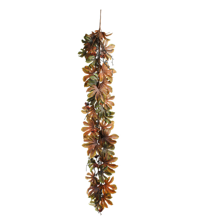 Autumn Aralia Leaf Garland