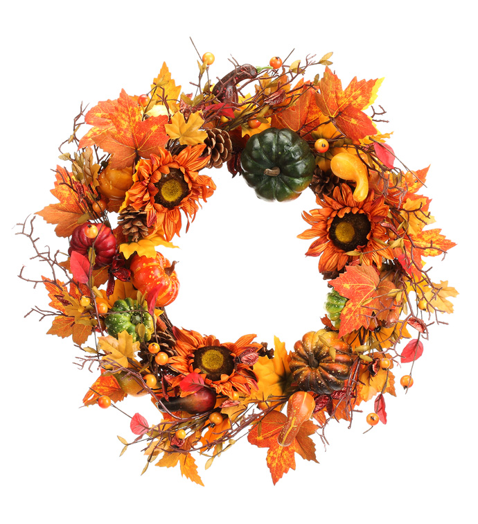 Pumpkin Sunflower Wreath
