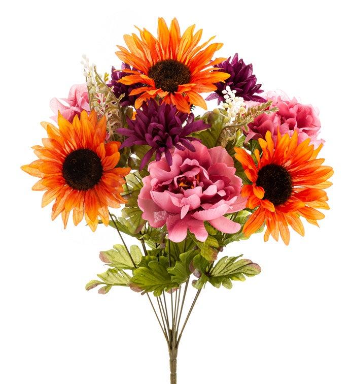 Orange/Pink Sunflower Mix Bush