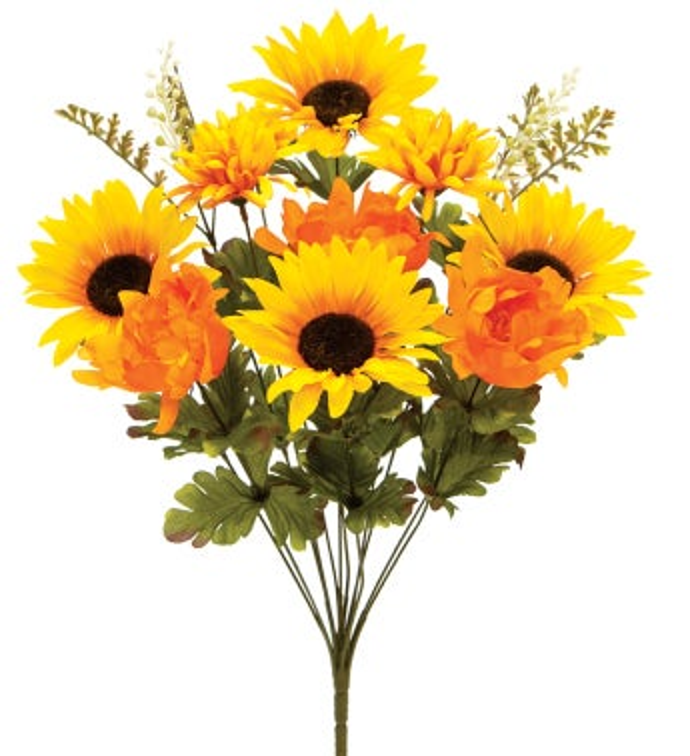 Gold/Orange Sunflower Mix Bush
