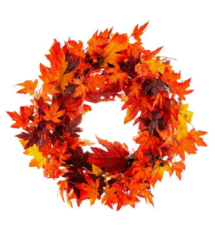 Vermont Maple Leaf Wreath