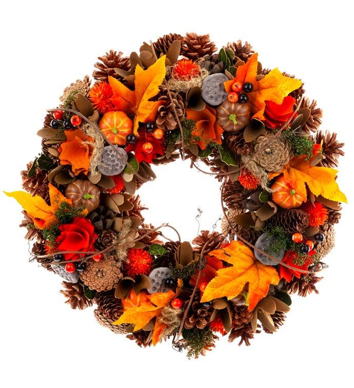 Mixed Autumn Splendor Wreath