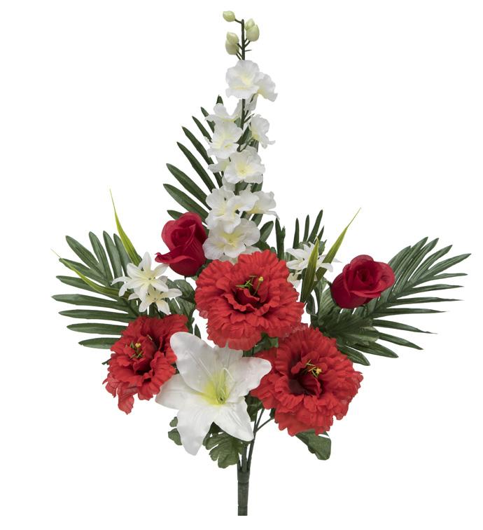 Rose, Dahlia, Rose Bud, Delphinium