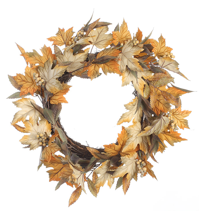 Assorted Leaf Berry Wreath