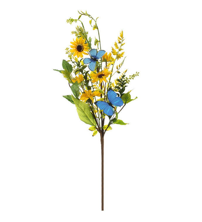 Yellow Daisy/Butterfly Spray