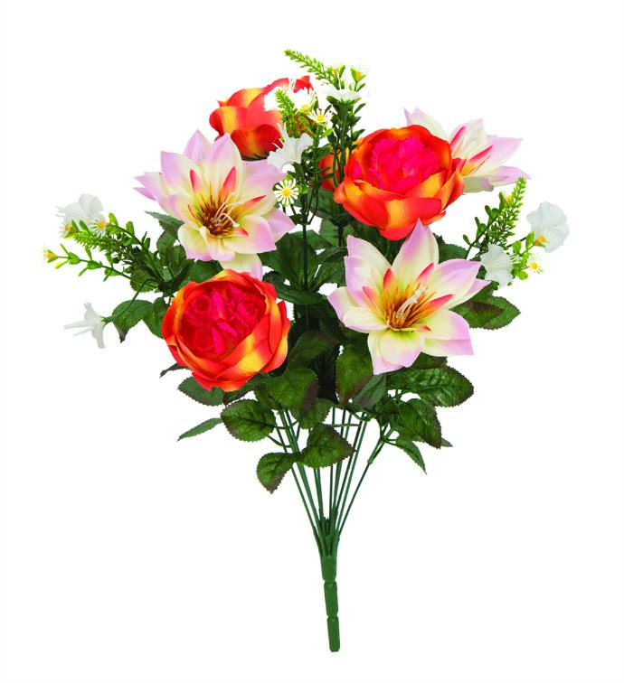 Peony/Lotus Bush Orange/Pink
