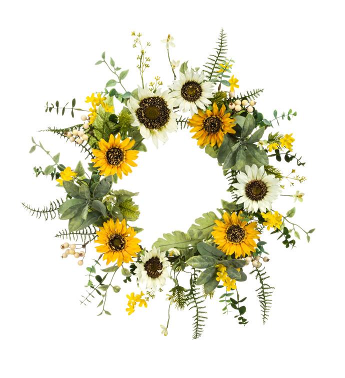 Sunflower Mixed Wreath