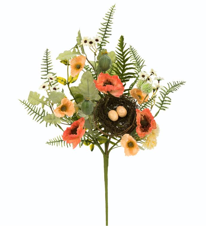 Orange Poppy/Nest Bush