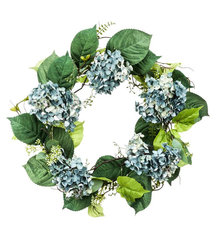 Vintage Blue Hydrangea Wreath