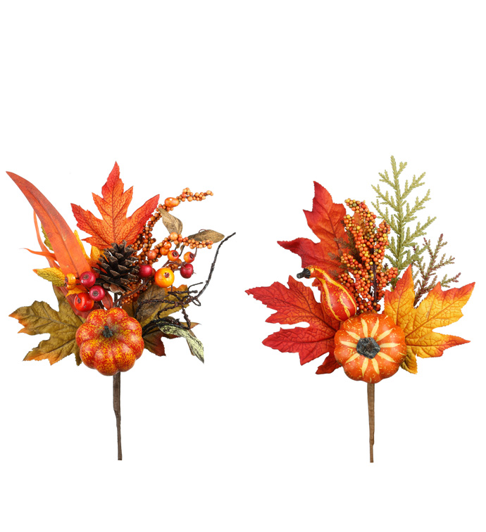 Pumpkin Leaf Pick, 2 Assorted